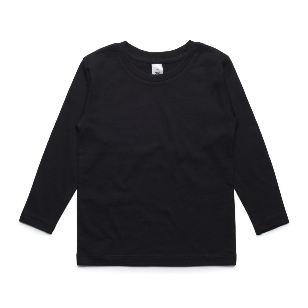3007 KIDS LONG SLEEVE TEE - BLACK