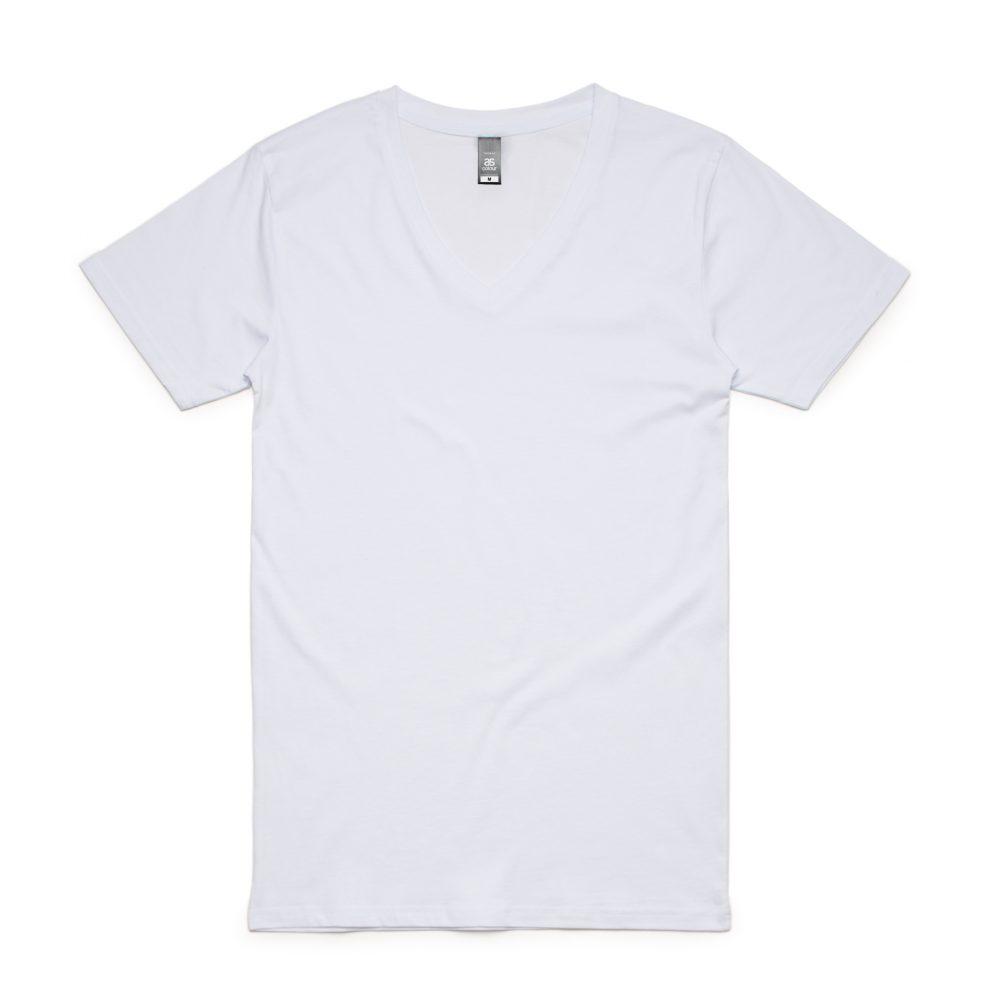 5003 TARMAC V-NECK TEE - WHITE