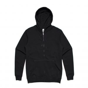 5204 INDEX ZIP HOOD - BLACK